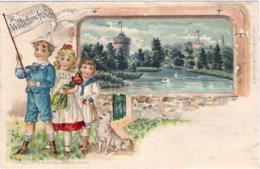 1901-Germania Cartolina A Rilievo Wilhelmshaven Viaggiata - Da Identificare
