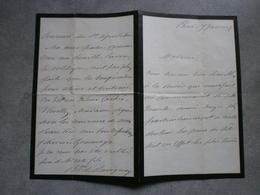 Paris 1875: Lettre - Manuscrits