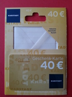 GERMANY - KARSTADT - MUSTER 40 Euros - DEMO TEST TRIAL CARTE CADEAU GIFT CARD (SACROC) - Cartes Cadeaux