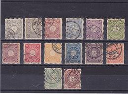 JAPON 1899-1906 Yvert 93-98 + 100 + 102-106 + 112-113 Oblitéré, Used Cote :17.30 Euros - Japon