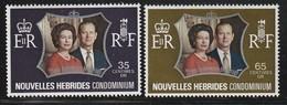 Nouvelles Hébrides - N°354/5 ** (1972) Noces D'argent - French Legend