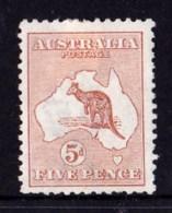 Australia 1913 Kangaroo 5d Chestnut 1st Watermark MH - - - - 1913-48 Kangaroos