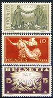 SVIZZERA - 1919 - Commemorativi Della Pace Cat. 170/72 Serie Cpl. 3v. Nuovi* - Svizzera