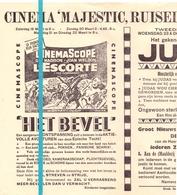 Kleine Affiche Pub Reclame Ciné Cinema Bioscoop - Majestic Ruiselede - Het Bevel - L'Escorte - Publicité Cinématographique