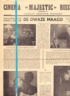 Kleine Affiche Pub Reclame Ciné Cinema Bioscoop - Majestic Ruiselede - De Dwaze Maagd - Professor Benevoli - Publicité Cinématographique