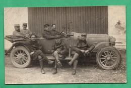 Militaria Carte Photo Ancienne Auto Automobile Militaire Non Localisée (tres Leger Pli Dans Un Angle) - Voitures De Tourisme