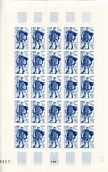 Feuille 25 Timbres Journée Du Timbre - Année 1950 YetT 863 Cote 112,50 Euros - Feuilles Complètes