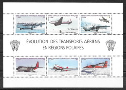 TAAF 2012 - Bloc Feuillet F612 (612 à 617) , Neuf ** , MNH - Avion, Plane, DC3, DC4, Noratlas, Hercule C130 - Cote 24 € - Blocs-feuillets