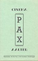 Kleine Affiche Pub Reclame Ciné Cinema Bioscoop - Pax Aalter - Programma - Publicité Cinématographique