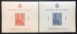 San Marino 1937 Lincoln 3+5 Lire Foglietti 2-3 Nuovi ** COD.fra.569.2 - San Marino