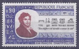 France 1972. YT = 1734 - Neuf Sans Charniere (**). Jean Francois Champollion - Neufs