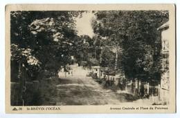 CPA 44 St-BREVIN L'OCEAN Avenue Centrale Et Place Du Pointeau - Saint-Brevin-l'Océan