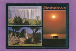 ZIMBABWE Multivues Victoria Falls Great Zimbawe Falls Lake Kariba  Cascade Victoria Grans Zimbawe Lac Kariba - Zimbabwe