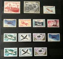POSTE AÉRIENNE FRANCE Années 1946 à 1964 + Vignette Guynemer : Etat** Luxe - Poste Aérienne