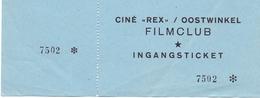 Pub Reclame Ciné Cinema Bioscoop - Rex Oostwinkel - Ingangsticket Filmclub - Publicité Cinématographique
