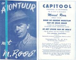 Pub Reclame Ciné Cinema Bioscoop - Capitool Gent - Op Avontuur Met Marcel Roos - Publicité Cinématographique