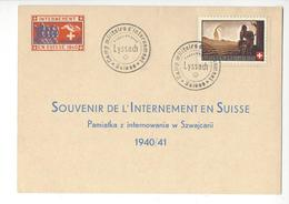 LYSSACH WW2 SUISSE INTERNES CAMP INTERNEMENT FRANCHISE POLOGNE /FREE SHIPPING REGISTERED - Marcophilie