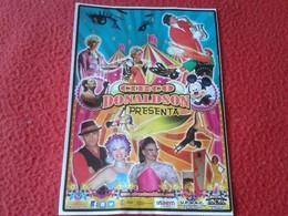 SPAIN. PEQUEÑA HOJA FOLLETO PANFLETO PUBLICIDAD CIRCO DONALDSON DISNEY ÉCIJA 2014 CIRCUS CIRQUE ZIRKUS ADVERTISING - Publicidad