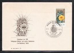 DDR 1982, Brief Mit MiNr. 1923, SStpl. Und Zudruck Kaktus / GDR 1982, Cover With MiNr. 1923, Spec. Postmark + Cachet - Sukkulenten