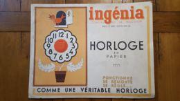 RARE INGENIA HORLOGE EN PAPIER CONSTRUCTION DE PRECISION CONCOURS LEPINE 1933 COMPLET ET PARFAIT ETAT VOIR  LES SCANS - Maquettisme