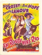 Kleine Affiche Pub Reclame Ciné Cinema Bioscoop - Casino Eernegem - Road To Rio - En Route Vers Rio - Publicité Cinématographique