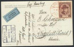 CESKOSLOVENSKO 1935: Bild-PK BOHUMIN Palackého ODERBERG Mi 335 O OLOMOUC 7.III.35 To Oberglatt (Switzerland) - Czechoslovakia
