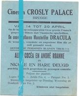 Kleine Affiche Pub Reclame Ciné Cinema Bioscoop - Crosly Palace Brugge - Dracula - Publicité Cinématographique