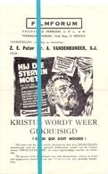 Kleine Affiche Pub Reclame Ciné Cinema Bioscoop - Volksschouwburg Oude Burg Brugge - Hij Die Sterven Moet - Publicité Cinématographique