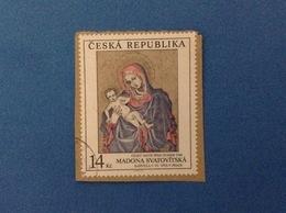 1994 REPUBBLICA CECA CESKA FRANCOBOLLO USATO STAMP USED - ARTE MADONNA SVATOVITSKA 14 Kc - Repubblica Ceca