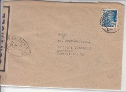 LETTRE CENSUREE  POUR LA SUISSE - FREIBURG - 1947 - VIGNETTE AU DOS - Zona Francese