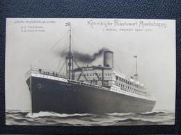 AK Indonesia Java Java - Australia Line Ship S.S.Tasman  Ca.1910 ////  D*36134 - Indonesien