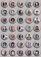 35 X The Rolling Stones Keith Richards Music Fan ART BADGE BUTTON PIN SET 2 (1inch/25mm Diameter) - Music