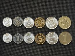 Chinese Coin Set 1-2-5 FEN 1-5JIAO 1 YUAN UNC 6 Coins 1 Set - China