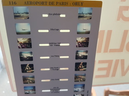 Plaque Stéroscopique 10 Photos Stéréos AEROPORT DE PARIS ORLY 94 Avions Aviations Aviateurs Air France Tour Salle Pistes - Photos Stéréoscopiques