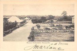 ALTE  AK   BRAZZAVILLE / Franz. Kongo  - Maison Hollandaise -  1902 Ca. Beschriftet - Brazzaville