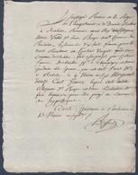 Marie Vallée à Richelieu,acquêt De Vigne Au Sablon.F; Dechartre à Champigny-sur-Veude.Timbre Fiscal Humide 25c Au Dos. - Manuscripts