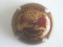 Capsule Champagne Radet Martin, N° 7, Bordeaux Et Or. Rare! - Ohne Zuordnung