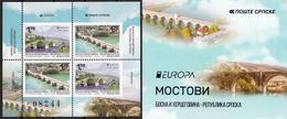 Bosnia Serbia 2018 Europa CEPT, Bridges, Architecture, Booklet, Carnet, Markenheftchen, MNH - 2018