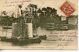 211. CPA 33 CASTILLON. PONT DE TRANCHARD. TRAVAUX 1904 - Francia