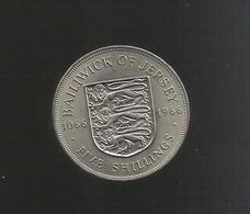 JERSEY - 5 SHILLINGS  (1966) - Queen Elizabeth II - Jersey