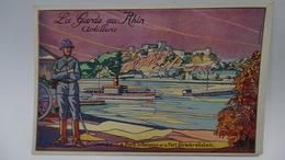 La Garde Du Rhin Artillerie Coblence Signé Baubaut - Autres Illustrateurs