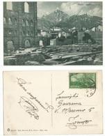 / Risorgimento L6 Isolato Cartolina Aosta Scavi Dell' Anfiteatro Cartolina B/n 1gen1949 X Milano Annullo Ambulante - 6. 1946-.. República