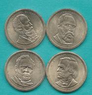 1 Dollar - 2011 - Johnson, Grant, Hayes & Garfield (KMs 499-502) - Emissioni Federali