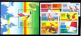 Olympics 1984 - Equestrian - GUINEA BISSAU - S/S+Set MNH - Ete 1984: Los Angeles
