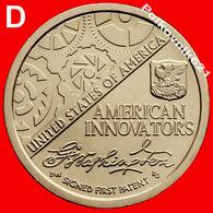 "USA, 1 Dollar 2018, ""American Innovation. First Patent"", В - Émissions Fédérales"