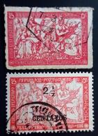 1916-1918  Mozambique Yt 202, 206 . Postal Tax / War Tax . Oblitérés - Mozambique