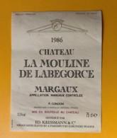3966 - Château La Mouline De Labegorce 1986 Margaux - Bordeaux