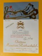 3975 - Château Mouton Rothschild 1981 Pauillac Dessin De Arman Spécimen - Bordeaux