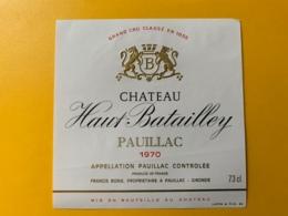 3978 - Château Haut-Batailley 1970  Pauillac - Bordeaux