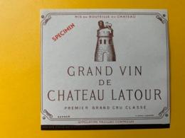 3983 - Grand Vin De Château Latour   Pauillac Spécimen - Bordeaux